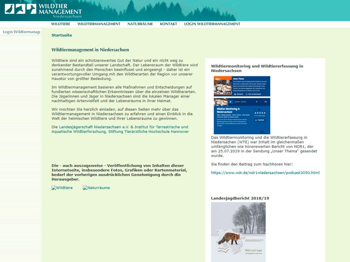 Wildtiermanagement in Niedersachsen