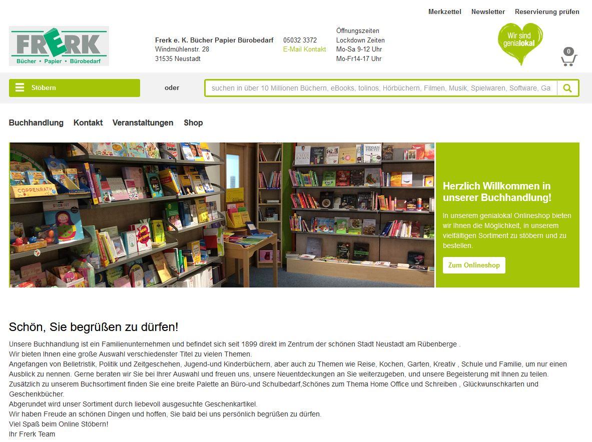 Frerk e. K. Bücher Papier Bürobedarf